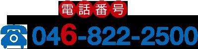Phone number 046-822-2500